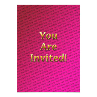 Pink repeating text card