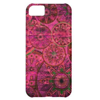 Pink retro abstract floral pattern. iPhone 5C cover