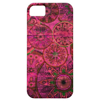 Pink retro abstract floral pattern. iPhone 5 case
