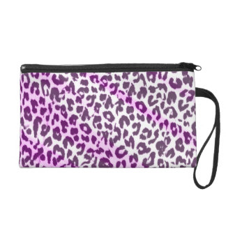 Pink retro animal fur abstract texture wristlet