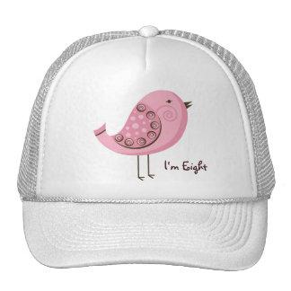 Pink Retro Bird Birthday & Age Trucker Hat