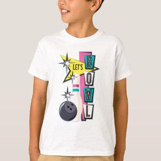 Pink Retro Bowling Design T-Shirt