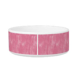 Pink Retro Canvas Grunge Texture Cat Water Bowls