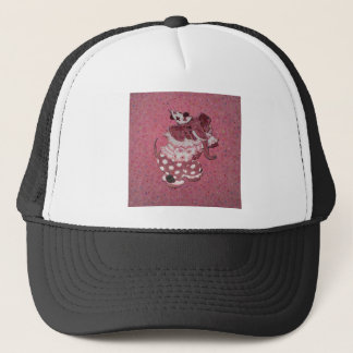 Pink Retro Circus Elephant Trucker Hat