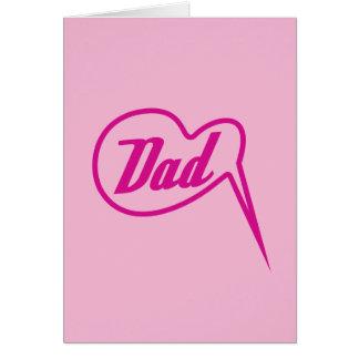 pink retro dad speech bubble card