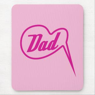 pink retro dad speech bubble mousepad