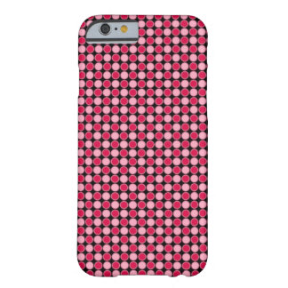 Pink Retro Dot Checkerboard Barely There iPhone 6 Case