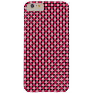 Pink Retro Dot Checkerboard Barely There iPhone 6 Plus Case