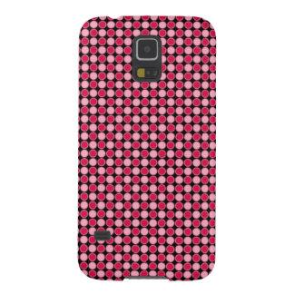 Pink Retro Dot Checkerboard Case For Galaxy S5
