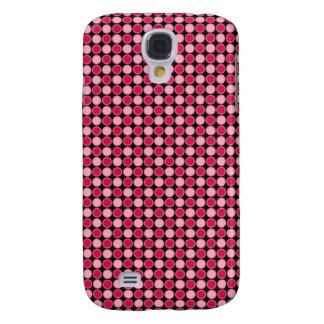 Pink Retro Dot Checkerboard Galaxy S4 Cover