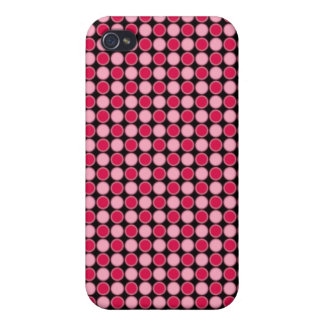 Pink Retro Dot Checkerboard iPhone 4/4S Cases