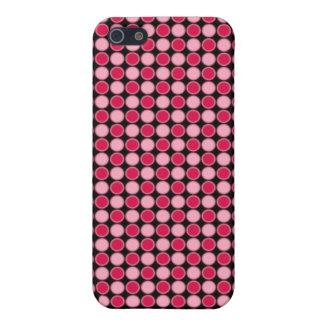Pink Retro Dot Checkerboard iPhone SE/5/5s Case