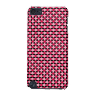 Pink Retro Dot Checkerboard iPod Touch (5th Generation) Case