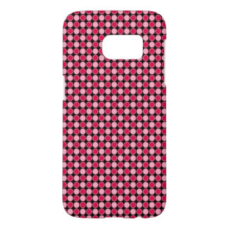 Pink Retro Dot Checkerboard Samsung Galaxy S7 Case