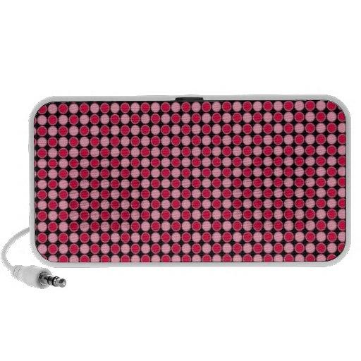 Pink Retro Dot Checkerboard Speaker System