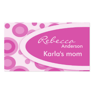 Pink Retro Dots Mommy  Calling Cards Business Card