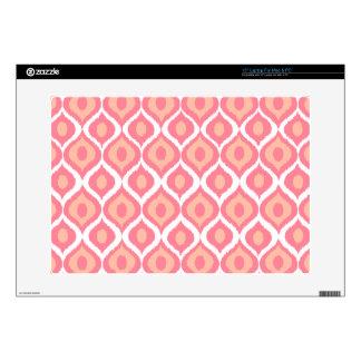Pink Retro Geometric Ikat Tribal Print Pattern Skin For Laptop