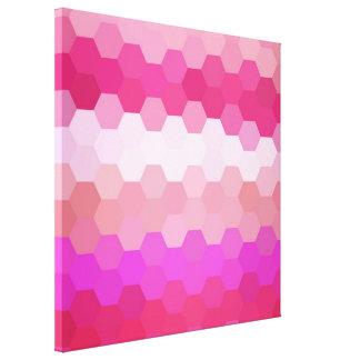 Pink Retro Hexagonal Seamless Pattern Canvas Print