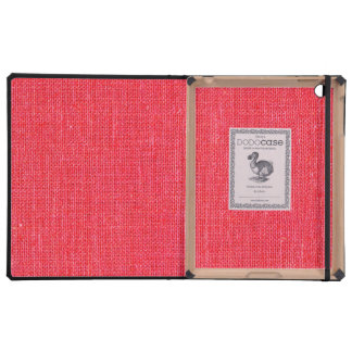 Pink Retro Linen Texture Case For iPad
