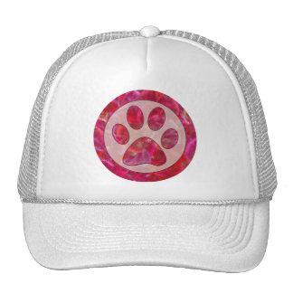 Pink Retro Paw Print Hat