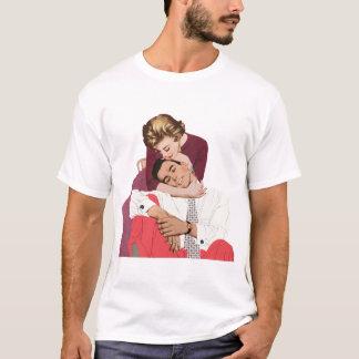 Pink Retro Romance, Vintage Romantic Love T-Shirt