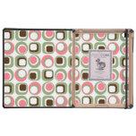 Pink Retro Squares & Circles iPad Case