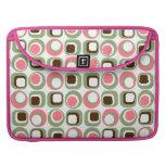 Pink Retro Squares & Circles MacBook Pro Sleeve