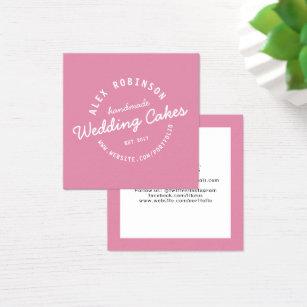 Wedding cake business cards templates zazzle pink retro wedding cake bakery business card reheart Choice Image