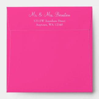 Pink Return Address Envelope