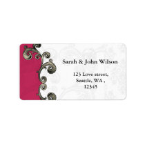 pink return address label