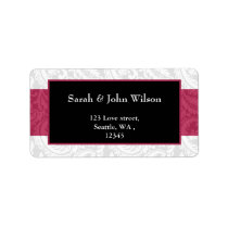 pink, return address label