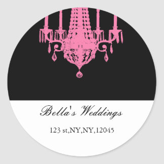 pink Return address label