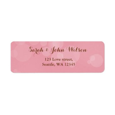 Pink return address labels