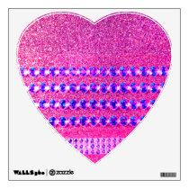Pink Rhinestone Look Wall Sticker