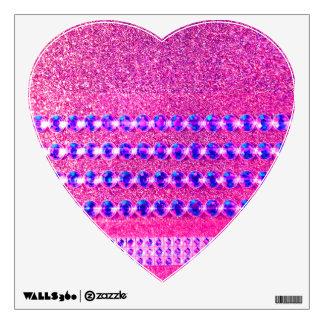 Pink Rhinestone Look Wall Sticker