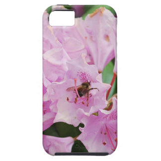 Pink Rhododendron and Bee iPhone SE/5/5s Case
