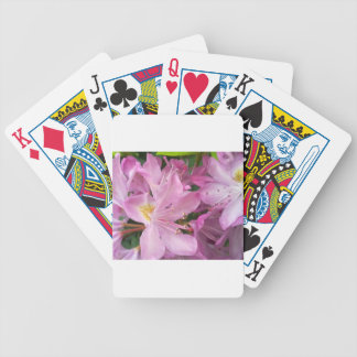 Pink Rhododendron Bicycle Poker Cards