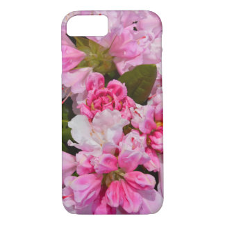 Pink rhododendron flower iphone case