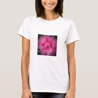 Pink rhododendron flower t-shirt
