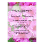 Pink Rhododendron Flowers 90th Birthday Party Card