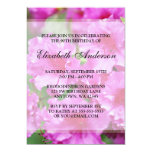 Pink Rhododendron Flowers 90th Birthday Party 5x7 Paper Invitation Card