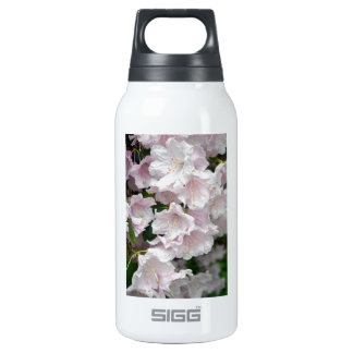 Pink rhododendron flowers in full bloom insulated water bottle
