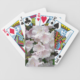 Pink rhododendron flowers in full bloom deck of cards