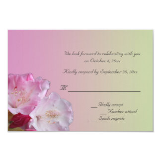pink rhododendron flowers RSVP card