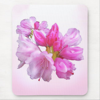 Pink Rhododendron Garden Flower Blossoms Mousepad