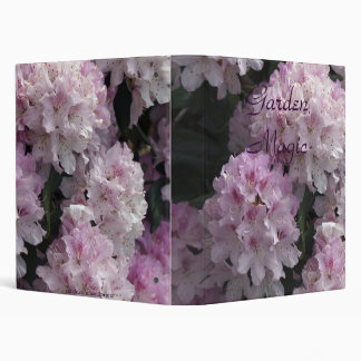 Pink Rhododendron Photo Album 3 Ring Binder