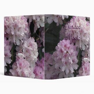 Pink Rhododendron Photo Album Vinyl Binder