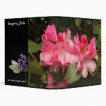 pink rhododendron vinyl binders