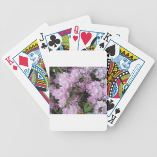 Pink rhododendrons poker deck