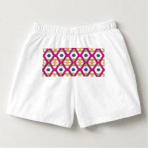 Pink rhombus pattern boxers